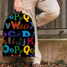 Load image into Gallery viewer, Designs by MyUtopia Shout Out:Colorful Alphabet Grade School Teacher Backpack