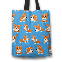 Load image into Gallery viewer, Designs by MyUtopia Shout Out:Corgi Fabric Totebag Reusable Shopping Tote