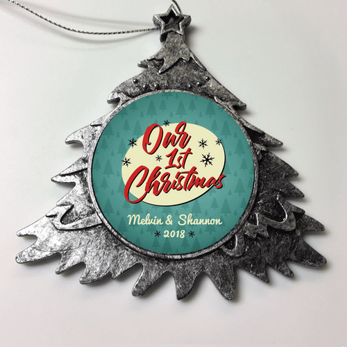 Designs by MyUtopia Shout Out:Couple First Christmas Personalized Ornament,Christmas Tree,Personalized Christmas Ornament