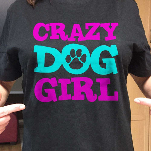 Designs by MyUtopia Shout Out:Crazy Dog Girl Ultra Cotton T-Shirt