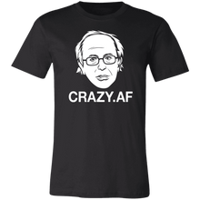 Load image into Gallery viewer, Designs by MyUtopia Shout Out:Crazy Sanders Trump Political Humor Unisex Jersey Short-Sleeve T-Shirt,X-Small / Black,Adult Unisex T-Shirt