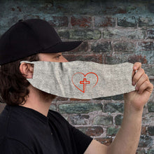 Load image into Gallery viewer, Designs by MyUtopia Shout Out:Cross In Heart Fabric Face Covering / Face Mask