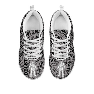 Designs by MyUtopia Shout Out:Cyberman Women's Running Shoes,Womens White Sole Sneakers - Cyberman / Womens US5 (EU35) / Grey/Black,Running Shoes