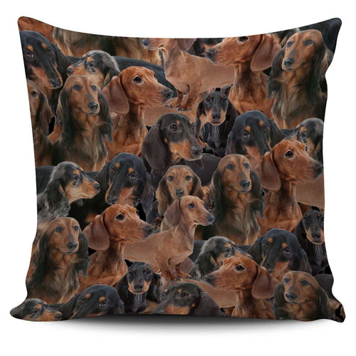 Designs by MyUtopia Shout Out:Dachshund Lovers Pillowcase