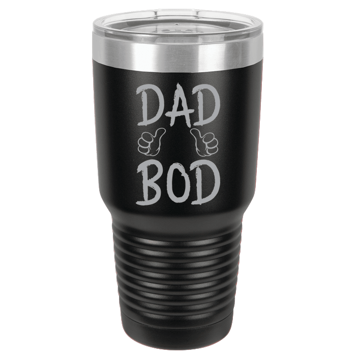 Designs by MyUtopia Shout Out:Dad Bod Engraved Polar Camel 30 oz Insulated Double Wall Steel Tumbler Travel Mug,Black,Polar Camel Tumbler