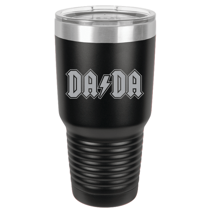 Designs by MyUtopia Shout Out:DaDa Engraved Polar Camel 30 oz Insulated Double Wall Steel Tumbler Travel Mug,Black,Polar Camel Tumbler