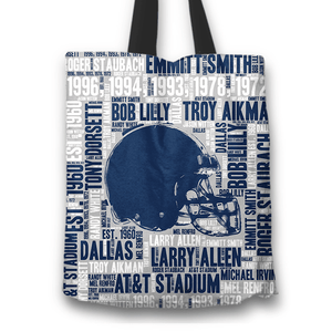 Designs by MyUtopia Shout Out:Dallas Word Cloud Fabric Totebag Reusable Shopping Tote,Helmet,Reusable Fabric Shopping Tote Bag