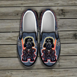 Designs by MyUtopia Shout Out:Darth Vader Slip-on Shoes
