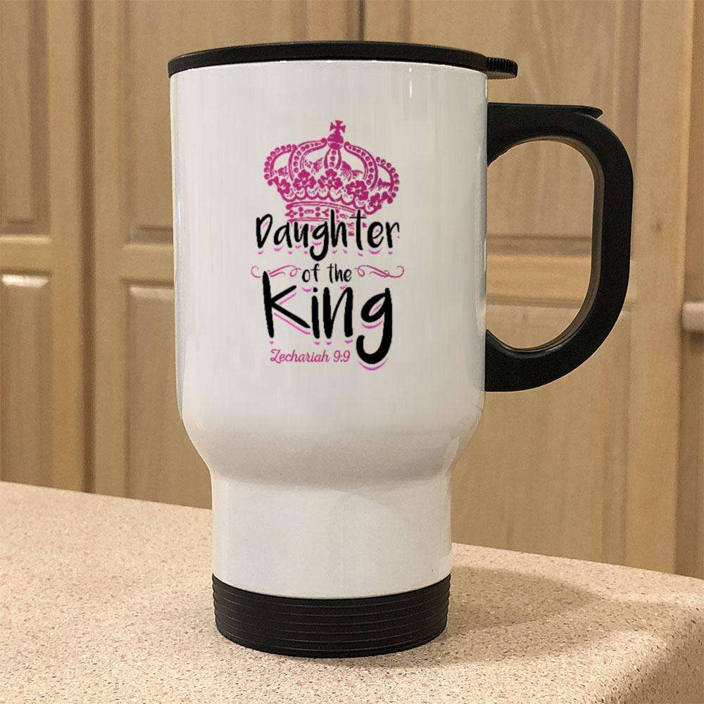 Designs by MyUtopia Shout Out:Daughter of the King 14 oz Stainless Steel Travel Coffee Mug w. Twist Close Lid