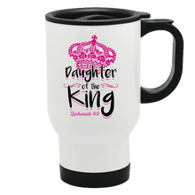 Load image into Gallery viewer, Designs by MyUtopia Shout Out:Daughter of the King 14 oz Stainless Steel Travel Coffee Mug w. Twist Close Lid