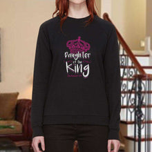 Load image into Gallery viewer, Designs by MyUtopia Shout Out:Daughter of the King Adult Unisex Sweatshirt,Black / Small,Sweatshirts