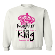 Load image into Gallery viewer, Designs by MyUtopia Shout Out:Daughter of the King Adult Unisex Sweatshirt,White / Small,Sweatshirts