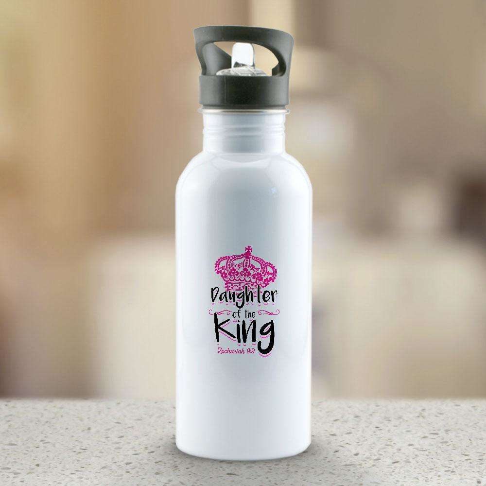 Designs by MyUtopia Shout Out:Daughter of the King Stainless Steel Reusable Water Bottle