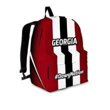 Load image into Gallery viewer, Designs by MyUtopia Shout Out:#DawgNation Georgia Backpack,Large (18 x 14 x 8 inches) / Adult (Ages 13+) / Red/Black/White,Backpacks