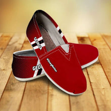 Load image into Gallery viewer, Designs by MyUtopia Shout Out:#DawgNation Georgia Casual Canvas Slip on Shoes Women's Flats