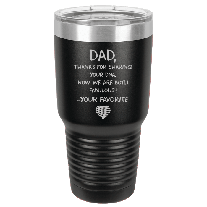 Designs by MyUtopia Shout Out:Dear Dad Polar Camel 30 oz Engraved Insulated Double Wall Steel Tumbler Travel Mug,Black,Polar Camel Tumbler