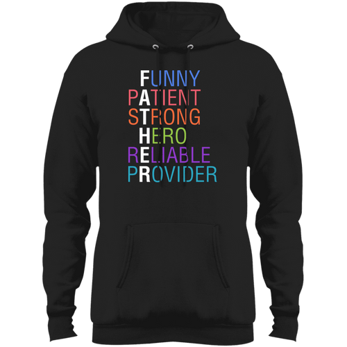 Designs by MyUtopia Shout Out:Descriptions of Father Anagram Core Fleece Pullover Hoodie,Jet Black / S,Sweatshirts