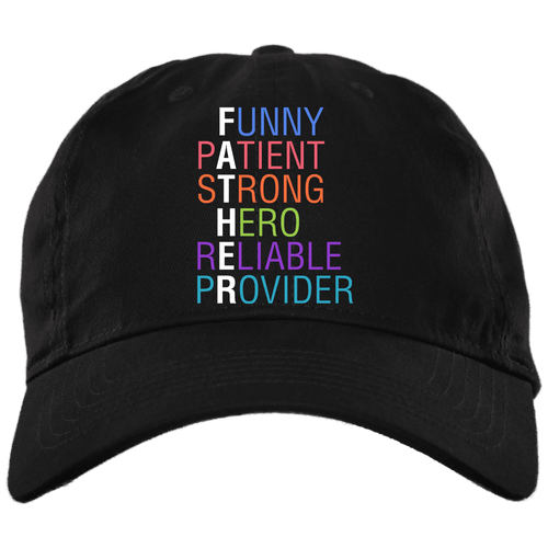 Designs by MyUtopia Shout Out:Descriptions of Father Anagram Embroidered Twill Unstructured Dad Baseball Cap,Black / One Size,Hats