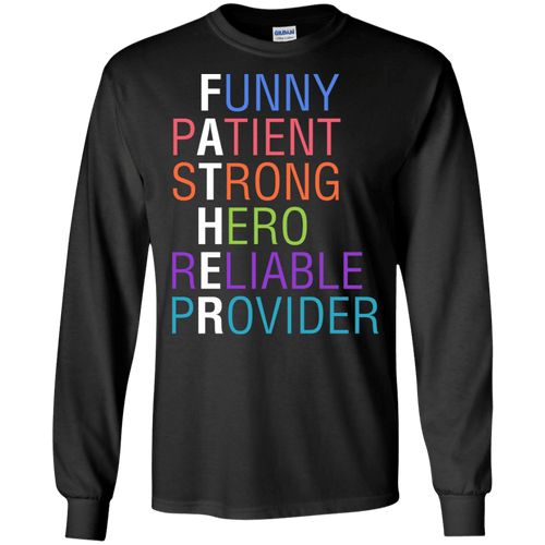 Designs by MyUtopia Shout Out:Descriptions of Father Anagram Ultra Cotton Unisex Long Sleeve T-Shirt,Black / S,Long Sleeve T-Shirts