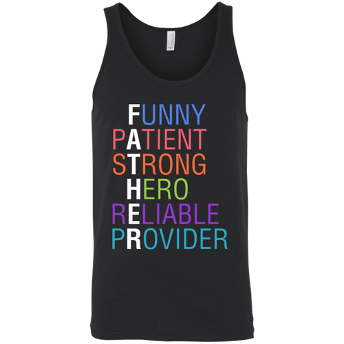 Designs by MyUtopia Shout Out:Descriptions of Father Anagram Unisex Tank Top,Black / X-Small,Tank Tops