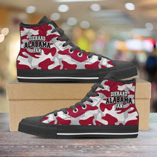 Load image into Gallery viewer, Designs by MyUtopia Shout Out:Diehard Alabama Fan Camo Print Canvas High Top Shoes,Men's / Mens US 5 (EU38) / Camo Print,High Top Sneakers