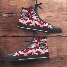 Load image into Gallery viewer, Designs by MyUtopia Shout Out:Diehard Alabama Fan Camo Print Canvas High Top Shoes