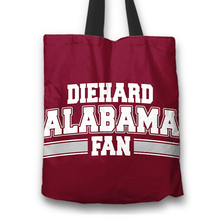 Load image into Gallery viewer, Designs by MyUtopia Shout Out:Diehard Alabama Fan Fabric Totebag Reusable Shopping Tote