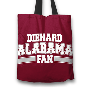 Designs by MyUtopia Shout Out:Diehard Alabama Fan Fabric Totebag Reusable Shopping Tote