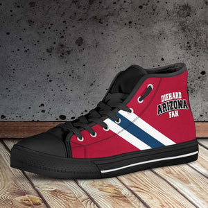 Designs by MyUtopia Shout Out:Diehard Arizona Wildcats Fan Canvas High Top Shoes