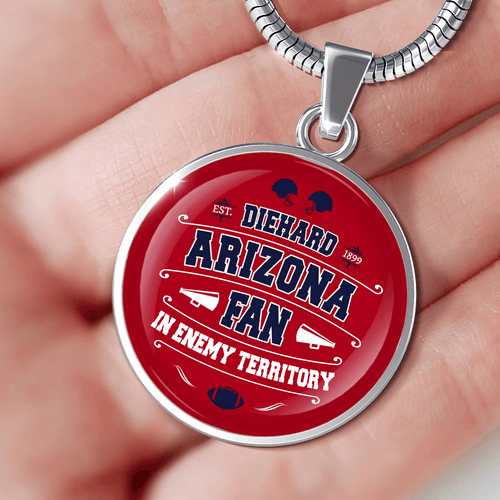 Designs by MyUtopia Shout Out:Diehard Arizona Wildcats Fan In Enemy Territory Engravable Personalized Jewelry