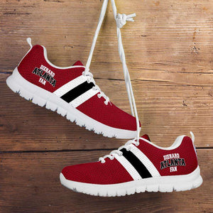 Designs by MyUtopia Shout Out:Diehard Atlanta Fan Running Shoes,Kid's / 11 CHILD (EU28) / White/Red,Running Shoes