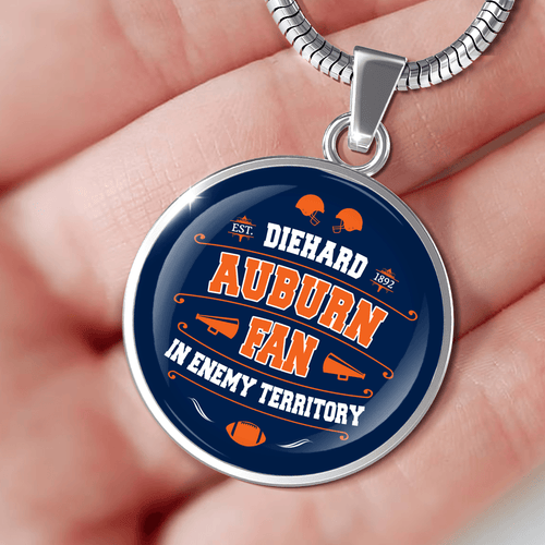 Designs by MyUtopia Shout Out:Diehard Auburn Fan In Enemy Territory Handcrafted Jewelry - AUBCF