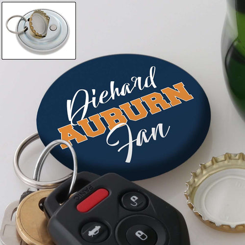 Designs by MyUtopia Shout Out:Diehard Auburn Fan Magnetic Keychain with Bottle Opener