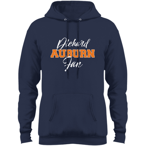 Designs by MyUtopia Shout Out:Diehard Auburn Fan Port & Co. Core Fleece Pullover Hoodie - Navy Blue,Navy / S,Pullover Hoodie