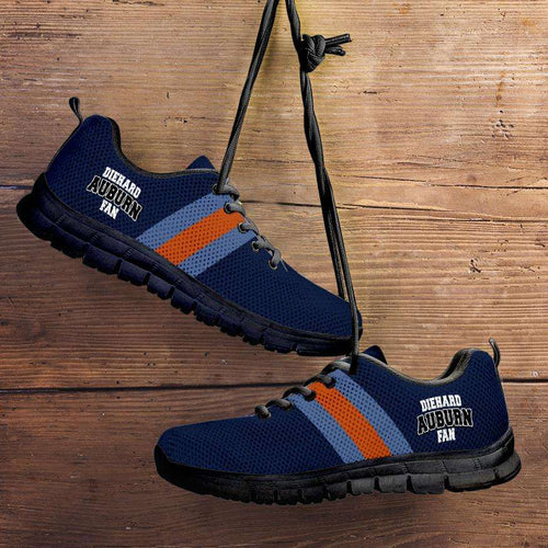 Designs by MyUtopia Shout Out:Diehard Auburn Fan Running Shoes,Kid's / 11 CHILD (EU28) / Black/Blue,Running Shoes