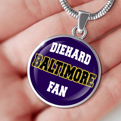 Designs by MyUtopia Shout Out:Diehard Baltimore Fan Handcrafted Necklace
