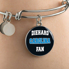 Load image into Gallery viewer, Designs by MyUtopia Shout Out:Diehard Carolina Fan Handcrafted Necklace,Bangle-Bracelet adjustable 7-8 inch / Black,Necklace