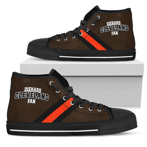 Designs by MyUtopia Shout Out:Diehard Cleveland Fan Canvas High Top Shoes