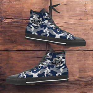 Designs by MyUtopia Shout Out:Diehard Dallas Fan Camo Print Canvas High Top Shoes,Men's / Mens US 5 (EU38) / Camo Print,High Top Sneakers