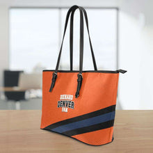 Load image into Gallery viewer, Designs by MyUtopia Shout Out:Diehard Denver Fan Faux Leather Totebag Purse