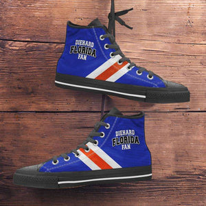Designs by MyUtopia Shout Out:Diehard Florida Gators Fan Canvas High Top Shoes