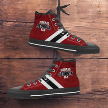 Load image into Gallery viewer, Designs by MyUtopia Shout Out:Diehard Georgia Fan Canvas High Top Shoes