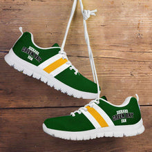 Load image into Gallery viewer, Designs by MyUtopia Shout Out:Diehard Green Bay Fan Running Shoes,Kid's / 11 CHILD (EU28) / Green/Yellow,Running Shoes