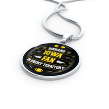 Load image into Gallery viewer, Designs by MyUtopia Shout Out:Diehard Iowa Fan in Enemy Territory Handmade Necklace