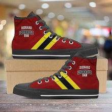 Load image into Gallery viewer, Designs by MyUtopia Shout Out:Diehard Louisville Fan Canvas High Top Shoes,Men's / Mens US 5 (EU38) / Red,High Top Sneakers