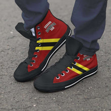 Load image into Gallery viewer, Designs by MyUtopia Shout Out:Diehard Louisville Fan Canvas High Top Shoes