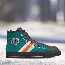 Load image into Gallery viewer, Designs by MyUtopia Shout Out:Diehard Miami Fan Canvas High Top Shoes