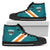 Designs by MyUtopia Shout Out:Diehard Miami Fan Canvas High Top Shoes