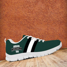 Load image into Gallery viewer, Designs by MyUtopia Shout Out:Diehard Michigan Fan Running Shoes - Green and White
