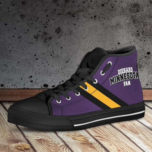 Designs by MyUtopia Shout Out:Diehard Minnesota Fan Canvas High Top Shoes